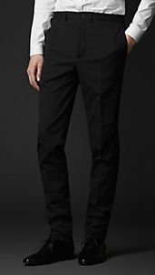 Slim Fit Seersucker Trousers