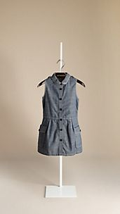 Chambray Cotton Shirt Dress