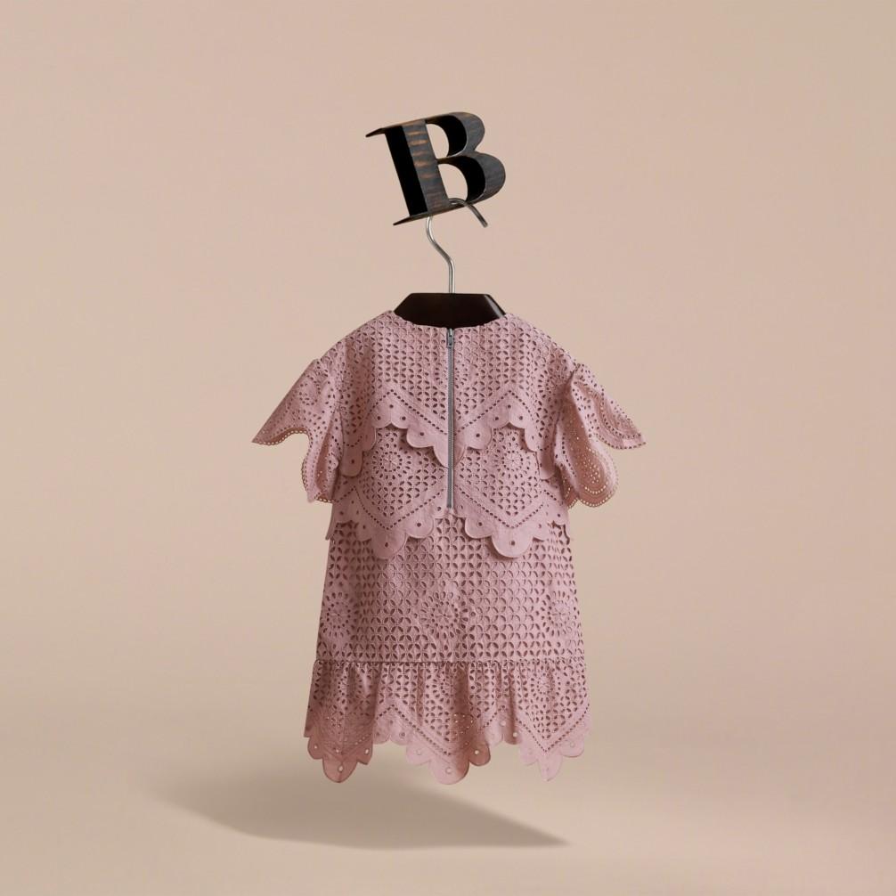 叠层英式刺绣棉质连衣裙 产品图片31