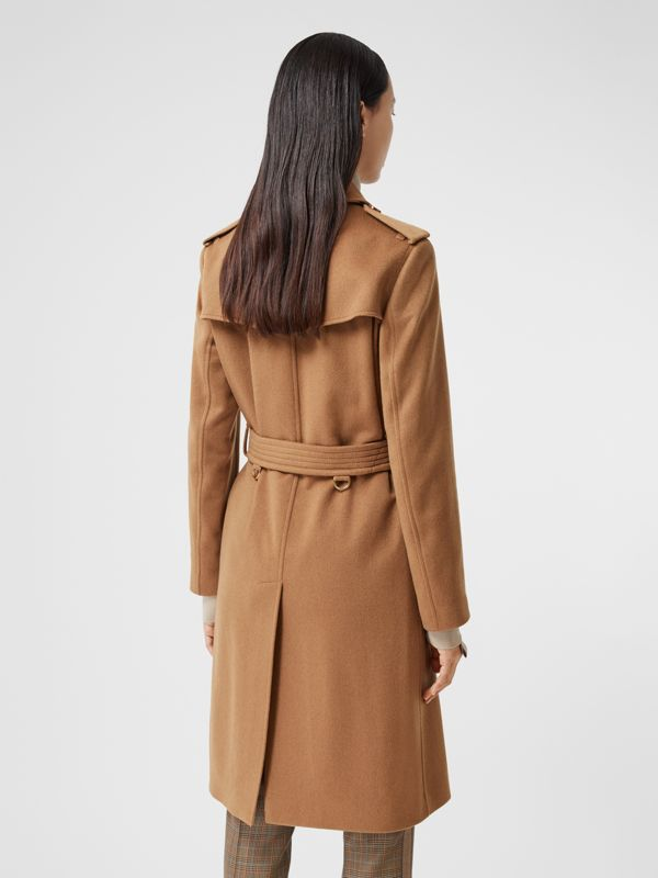 Regenerated Cashmere Trench Coat in Bronze - Women | Burberry - cell image 2