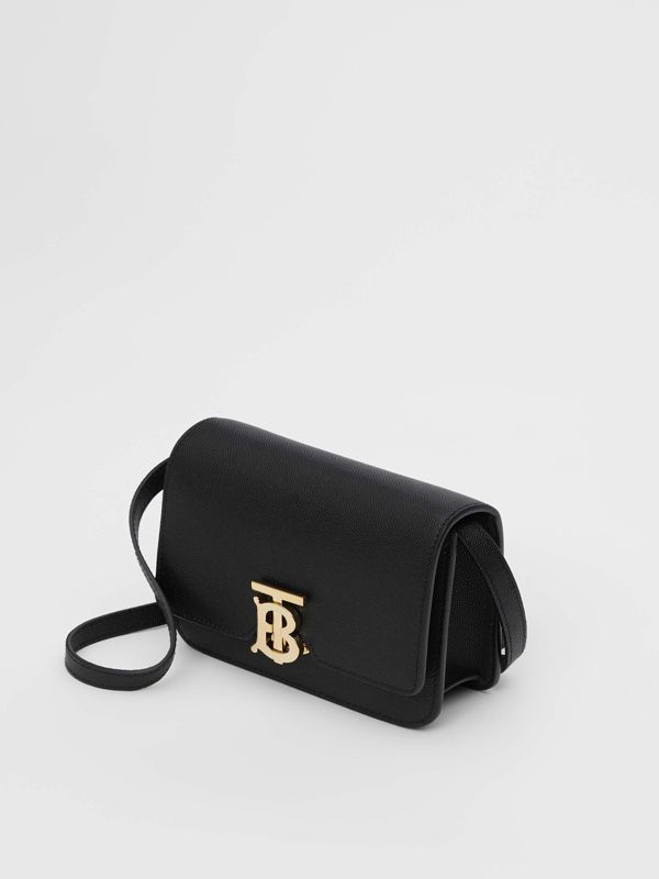 Mini Grainy Leather TB Bag in Black - Women | Burberry - cell image 3