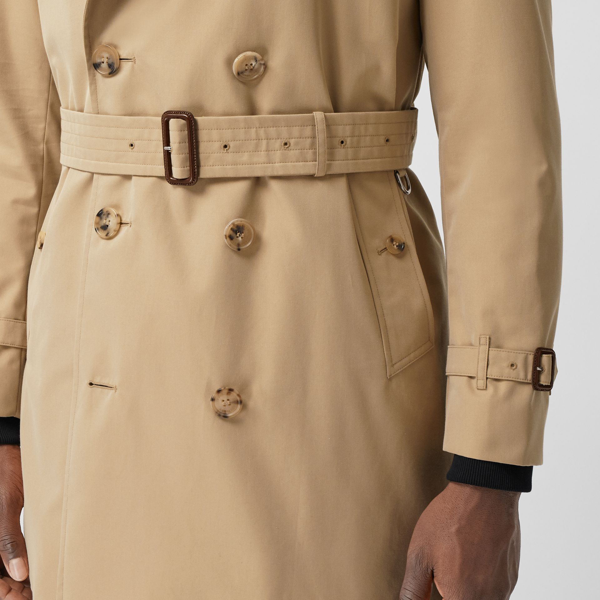 The Short Wimbledon Trench Coat in Honey - Men | Burberry Australia - gallery image 5