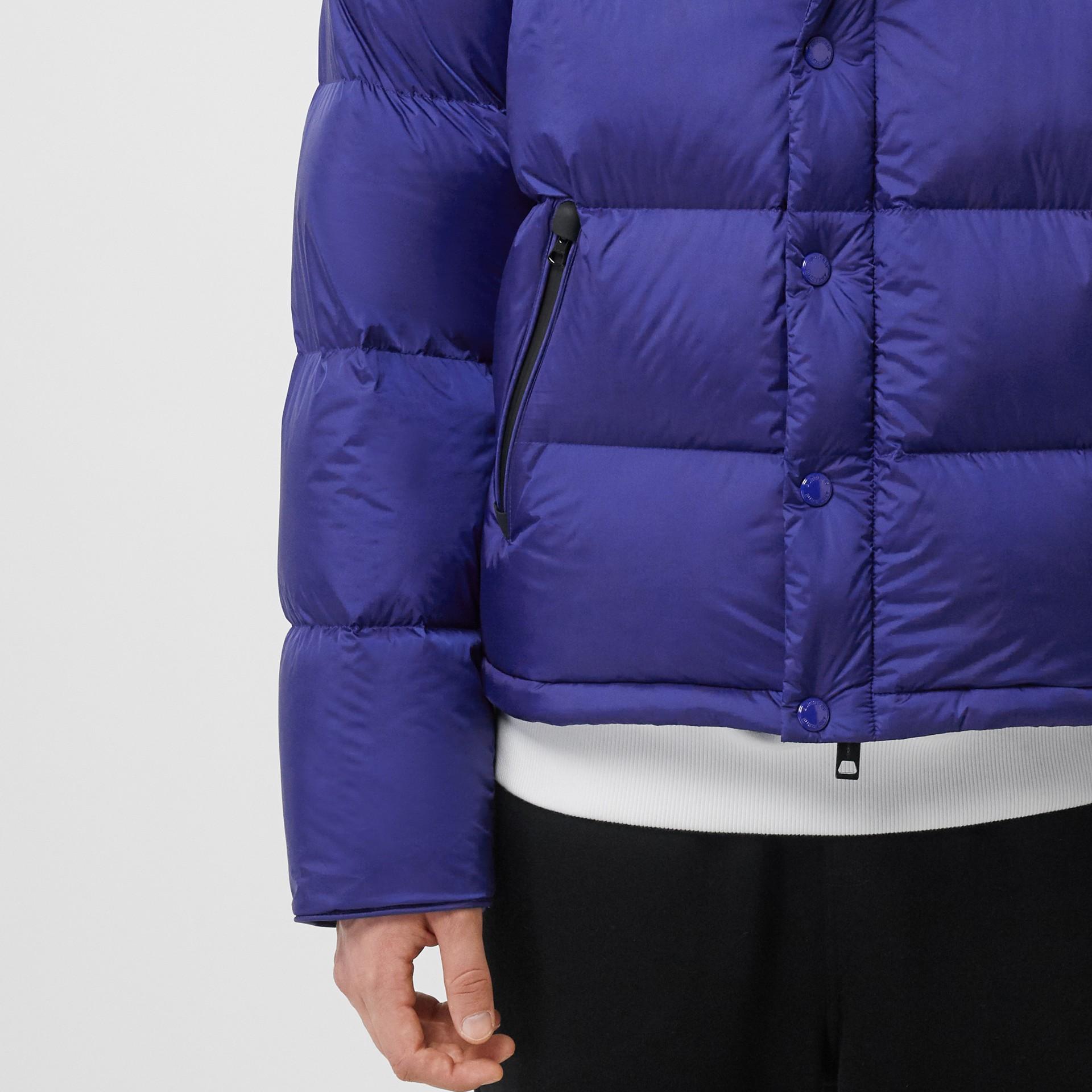 Detachable Sleeve Hooded Puffer Jacket in Dark Cobalt Blue - Men | Burberry - gallery image 1
