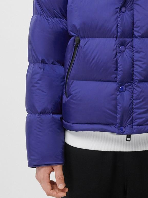 Detachable Sleeve Hooded Puffer Jacket in Dark Cobalt Blue - Men | Burberry - cell image 1