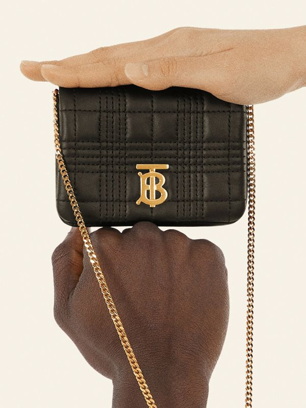 Micro Quilted Lambskin Lola Bag in Black - Women | Burberry - cell image 3