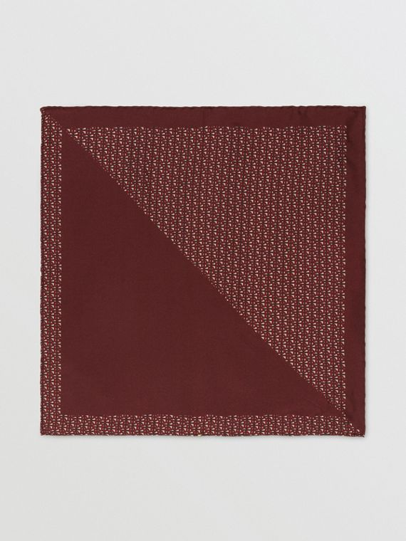 Monogram Panel Silk Pocket Square