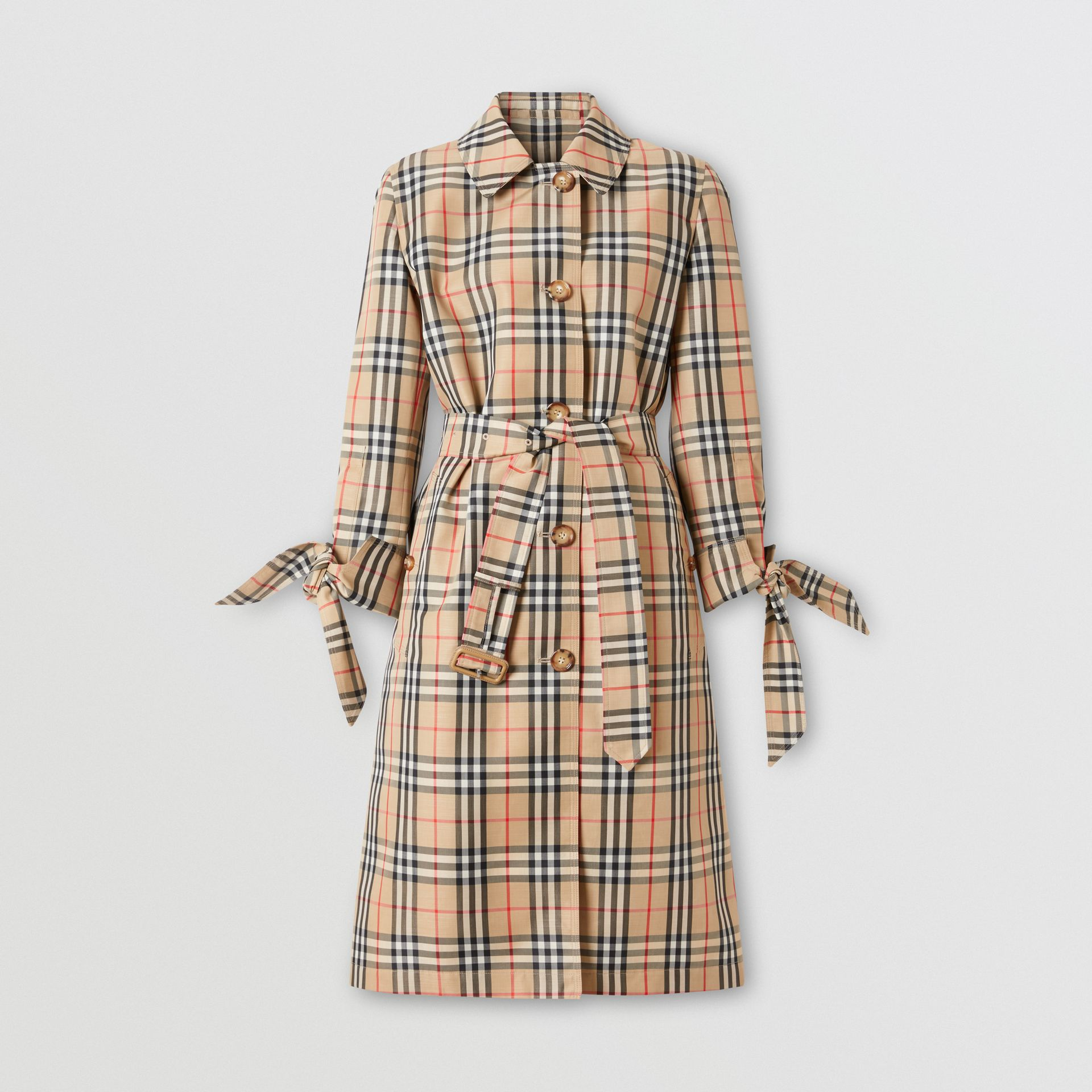 Vintage Check Recycled Polyester Car Coat - Women | Burberry - gallery image 3