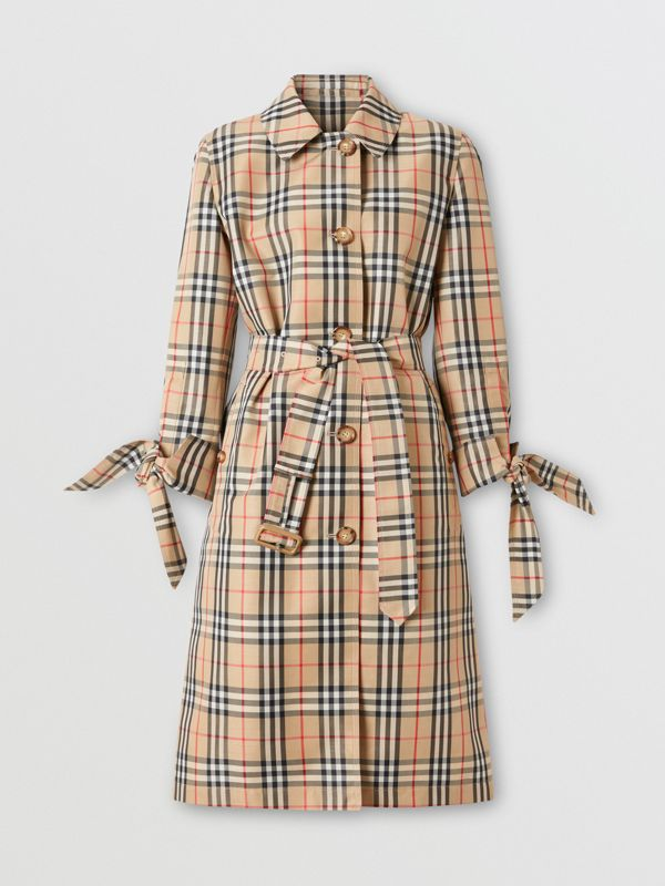 Vintage Check Recycled Polyester Car Coat - Women | Burberry - cell image 3