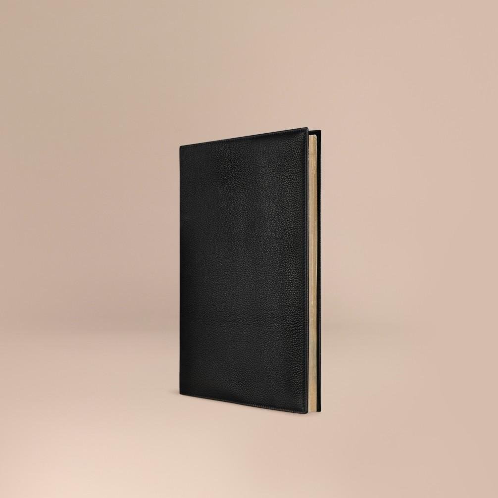 黑色 粒面皮革 a4 笔记本 产品图片01