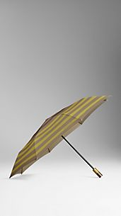 Striped Folding Umbrella