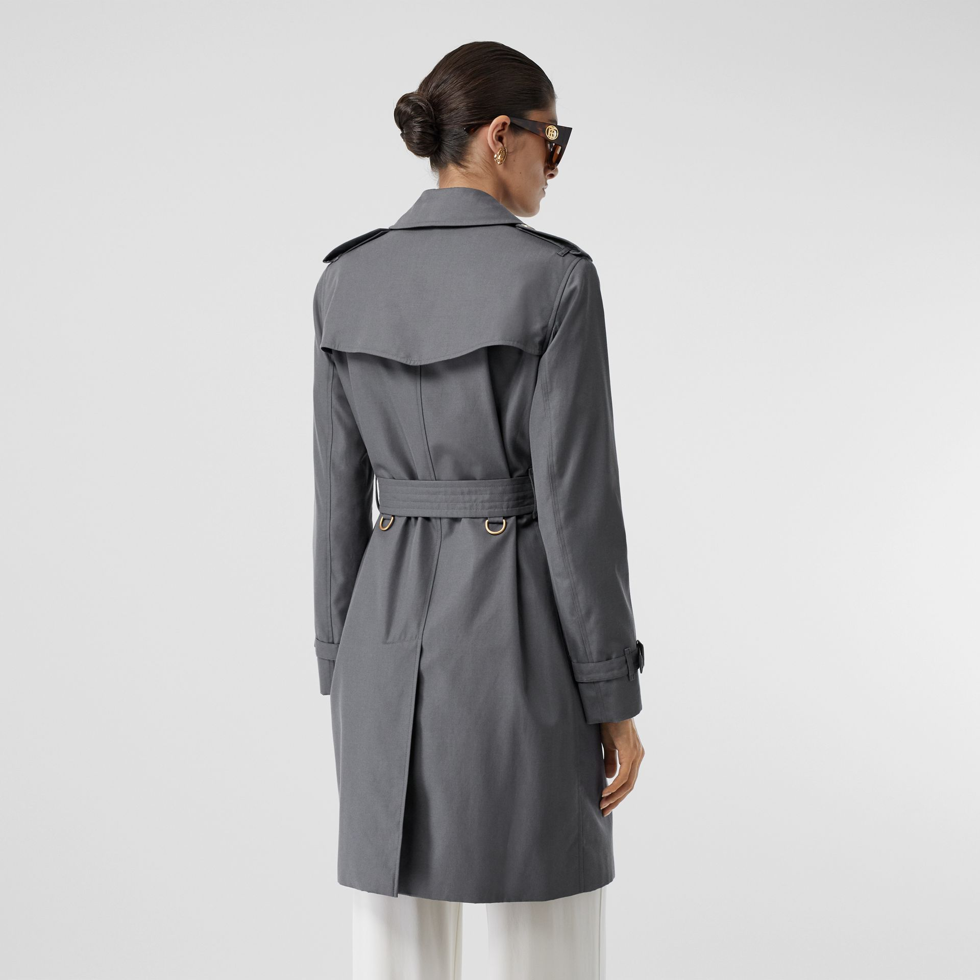 The Mid-length Kensington Heritage Trench Coat in Grey - Women | Burberry - gallery image 5