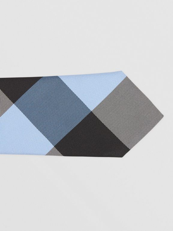 Classic Cut Check Silk Jacquard Tie in Bright Steel Blue | Burberry United Kingdom - cell image 1