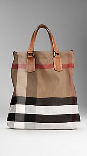 Sac tote medium en toile en check