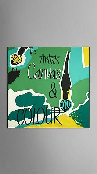 Seidenkarree mit Canvas and Colour-Druck – mittelgroß