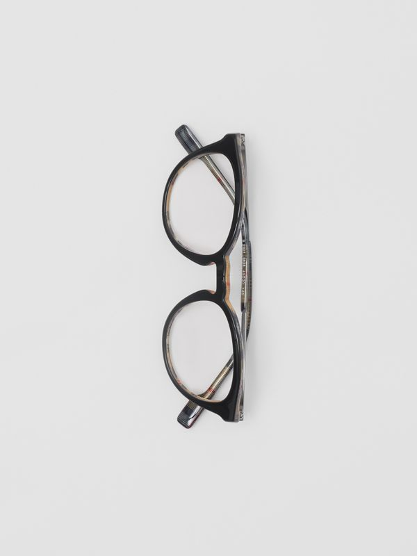 Round Optical Frames in Black/beige - Men | Burberry - cell image 3