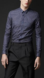 Slim Fit Geometric Print Shirt