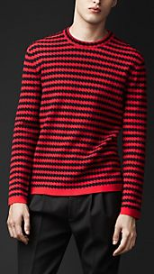 Zigzag Wool Silk Sweater