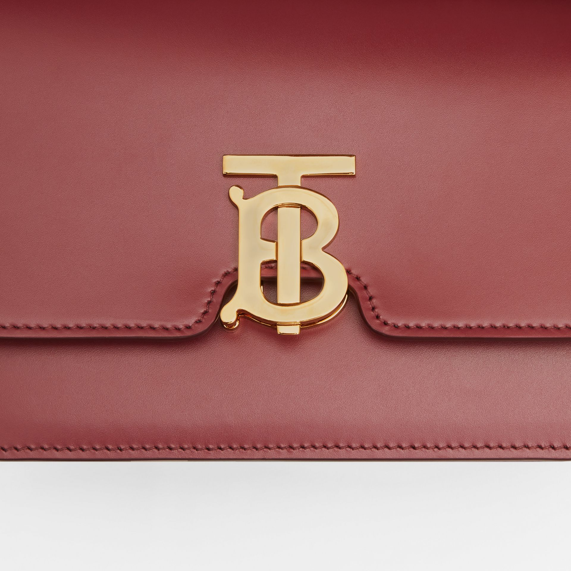 Small Leather TB Bag in Crimson - Women | Burberry United Kingdom - gallery image 1