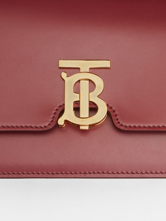 Small Leather TB Bag in Crimson - Women | Burberry United Kingdom - cell image 1