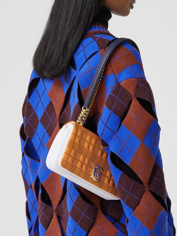 Bolsa Lola de couro de cordeiro em três tons - Pequena (Laranja/branco) - Mulheres | Burberry - cell image 2