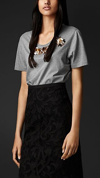 Gem Embroidered T-shirt