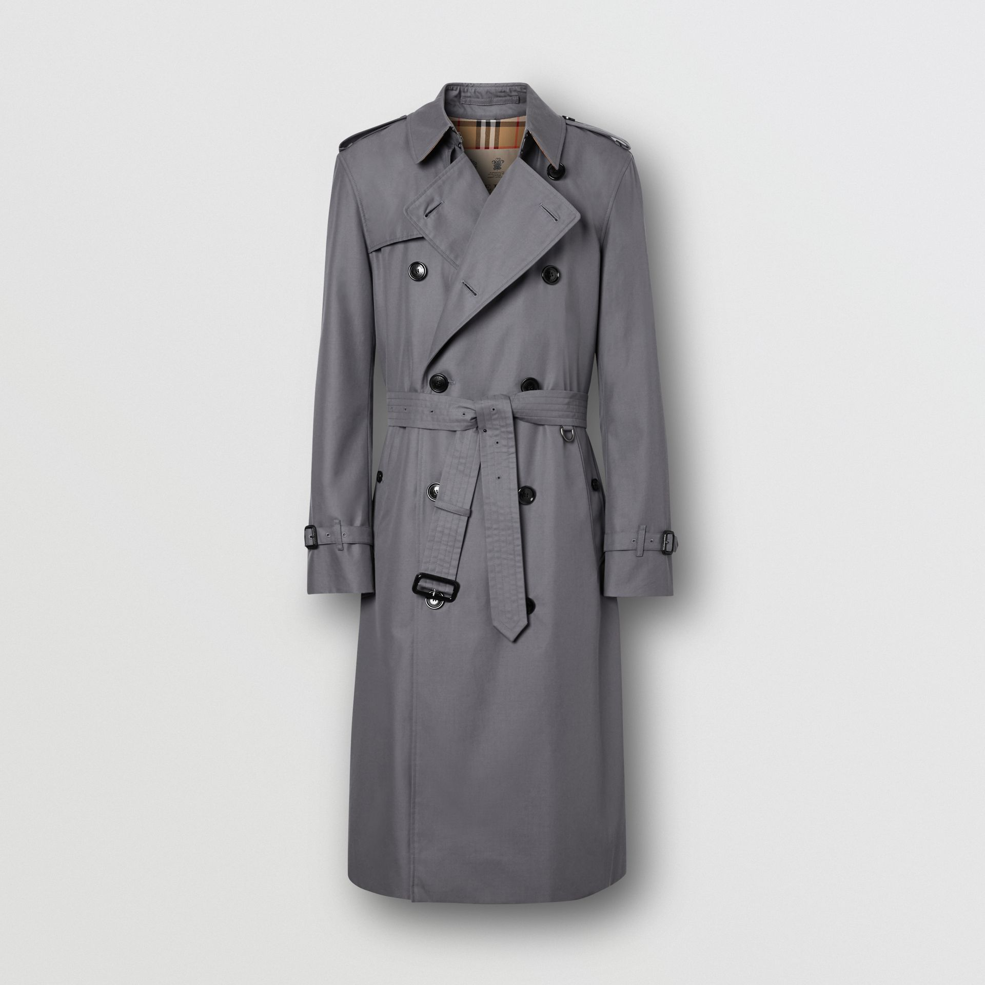 Trench Heritage long The Chelsea (Gris Moyen) - Homme | Burberry Canada - photo de la galerie 3