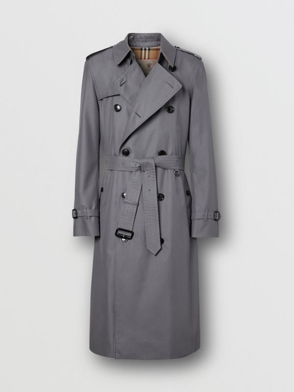 Trench Heritage long The Chelsea (Gris Moyen) - Homme | Burberry Canada - cell image 3