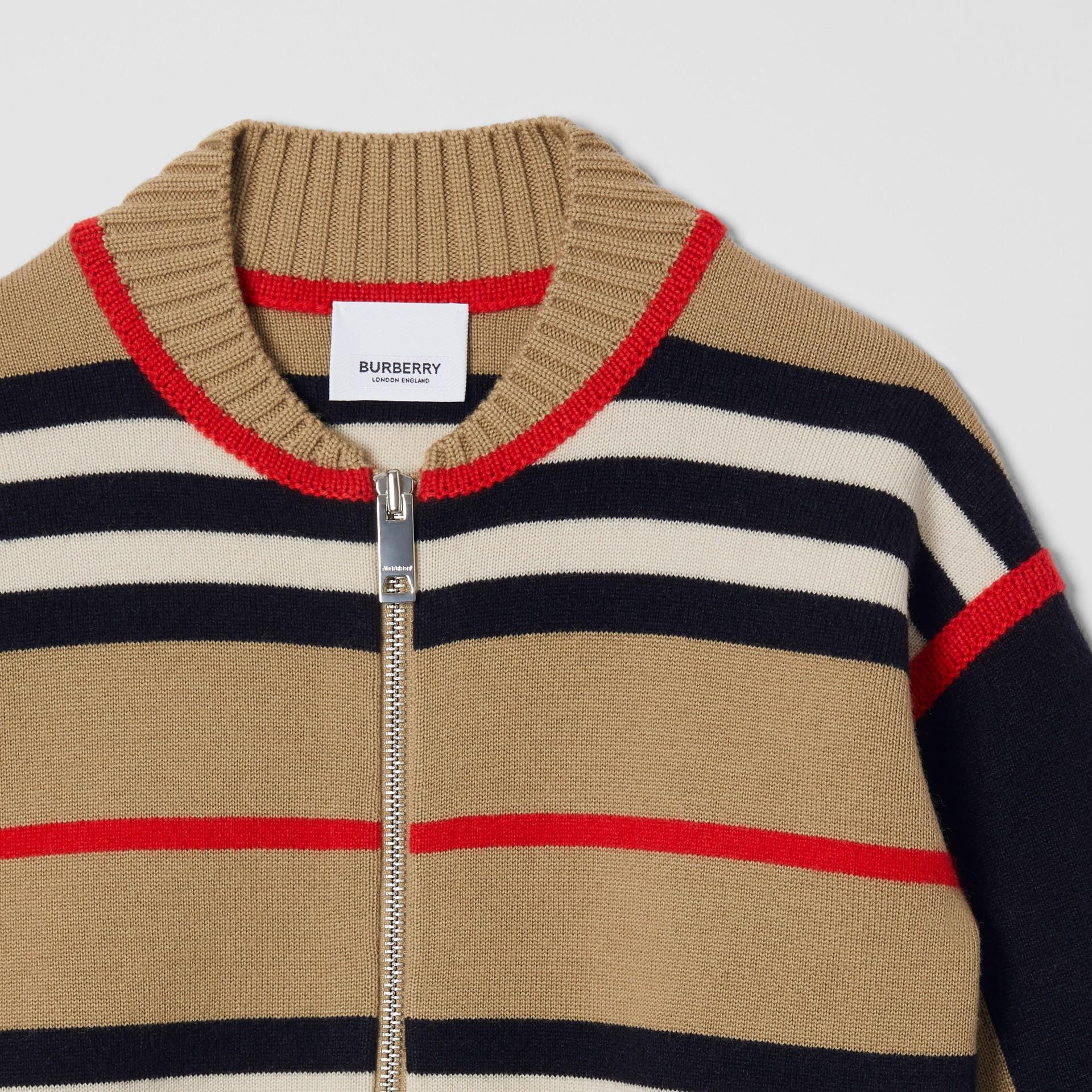 Icon Stripe Wool Cashmere Blend Cardigan | Burberry United Kingdom - gallery image 5