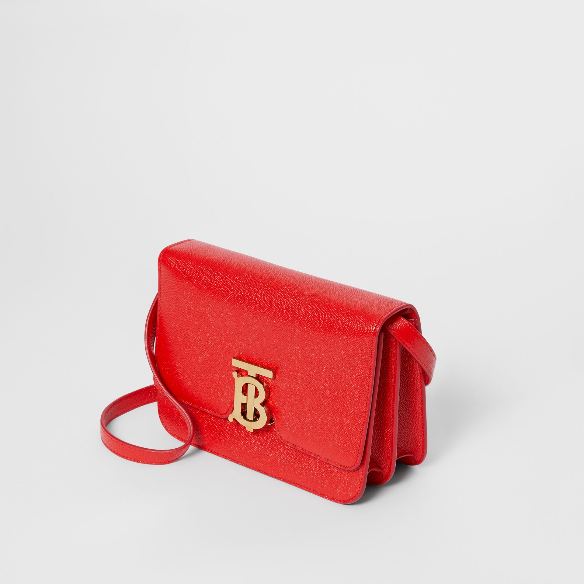 Small Grainy Leather TB Bag in Bright Red - Women | Burberry United Kingdom - gallery image 3