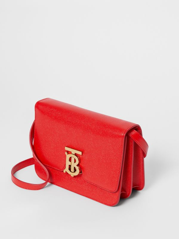 Small Grainy Leather TB Bag in Bright Red - Women | Burberry - cell image 3