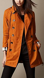 Short Gathered Trench Coat