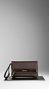 Bolso de mano plegable en cuero London