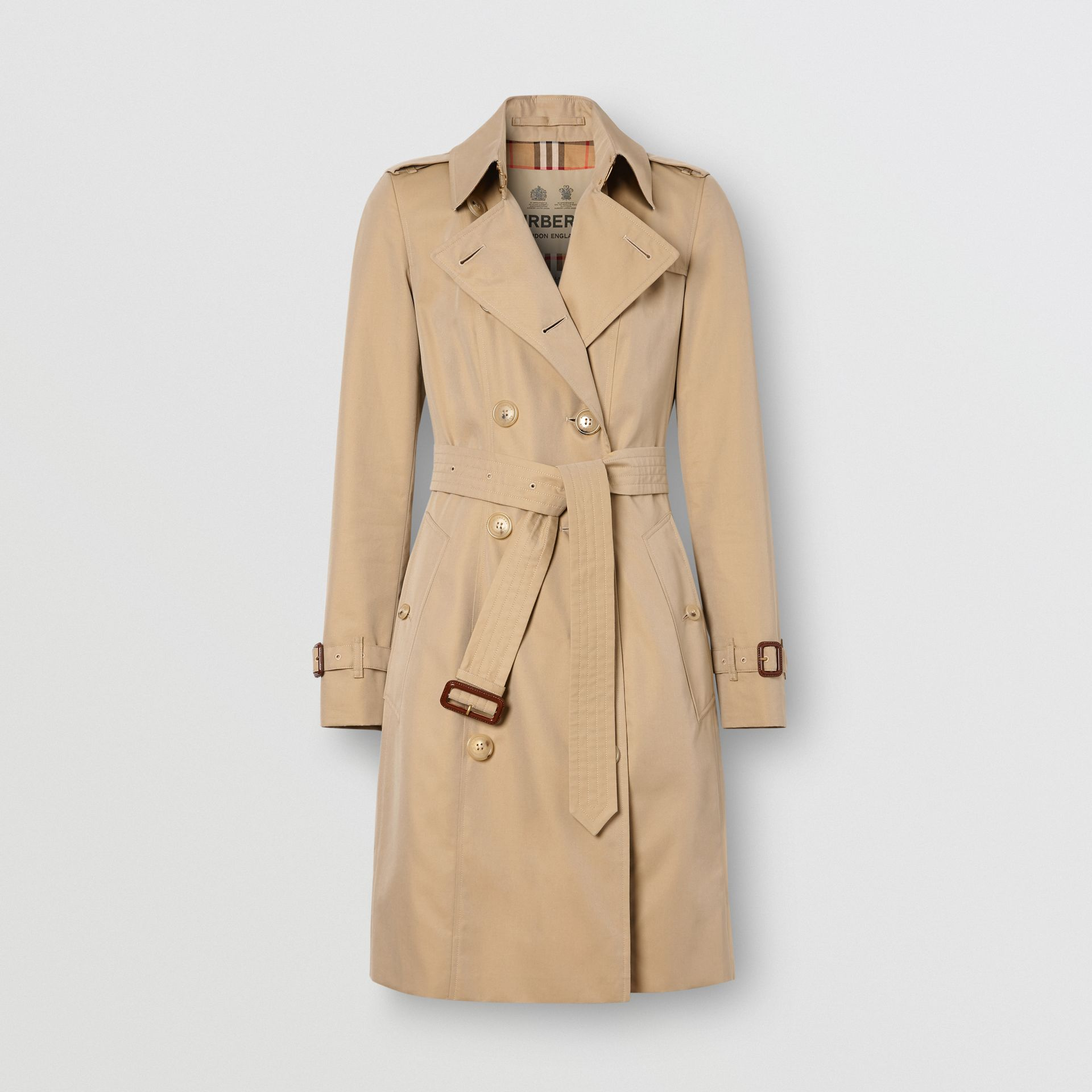 Trench Heritage mi-long The Chelsea (Miel) - Femme | Burberry Canada - photo de la galerie 3