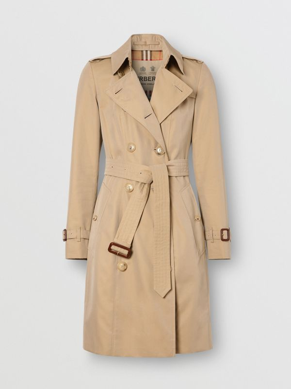 Trench Heritage mi-long The Chelsea (Miel) - Femme | Burberry Canada - cell image 3