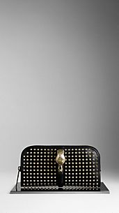 Country Animal Studded Clutch Bag