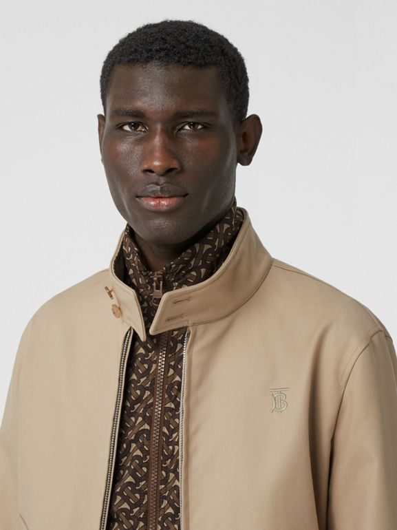 Cotton Harrington Jacket with Detachable Warmer in Honey - Men | Burberry - cell image 1