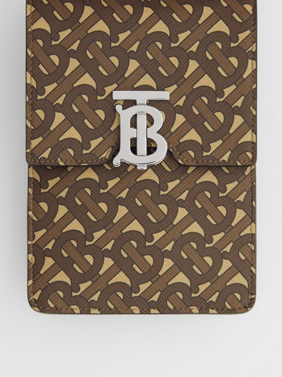 Monogram Print E-canvas Robin Bag in Bridle Brown | Burberry - cell image 1