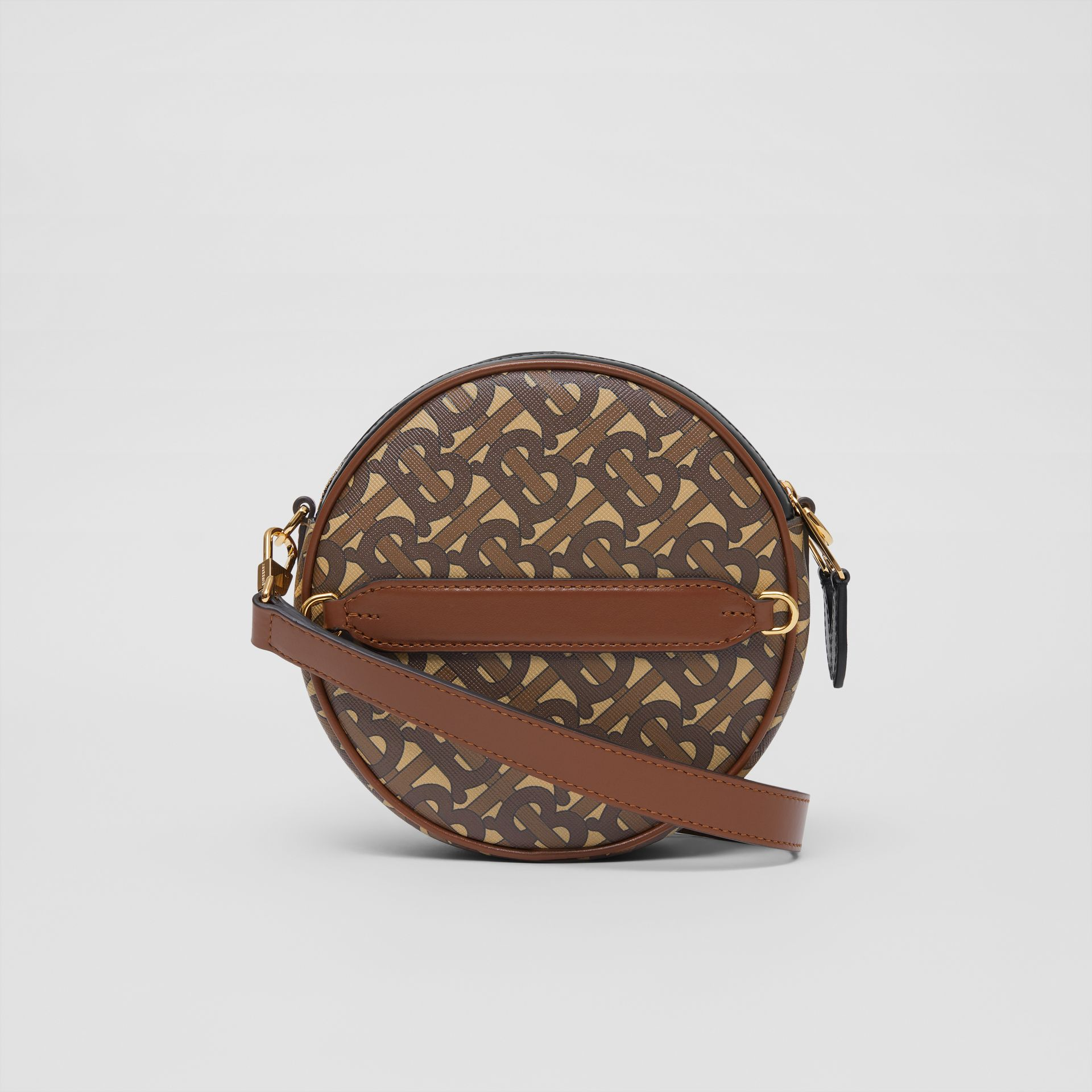 Monogram Print E-canvas Louise Bag in Bridle Brown - Women | Burberry United Kingdom - gallery image 5