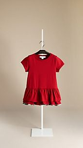 Frill Detail Cotton T-Shirt