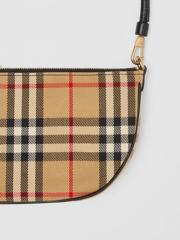 Vintage Check Cotton Olympia Pouch in Archive Beige - Women | Burberry United Kingdom - cell image 1