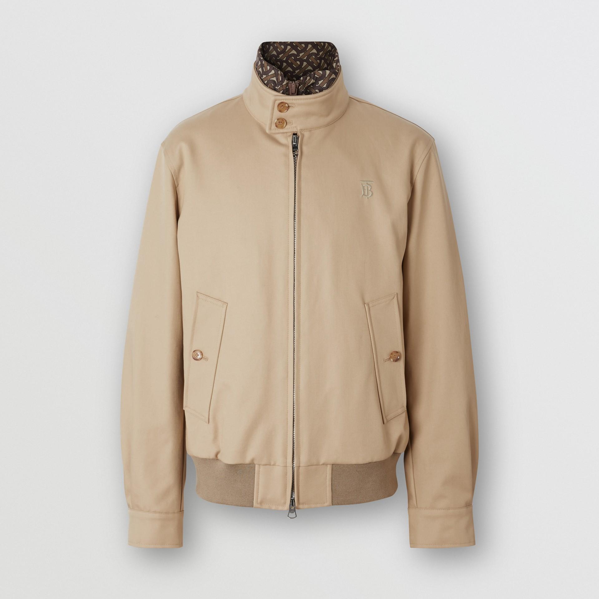 Cotton Harrington Jacket with Detachable Warmer in Honey - Men | Burberry - gallery image 3