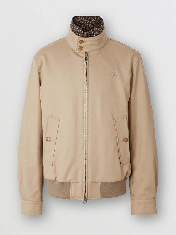 Cotton Harrington Jacket with Detachable Warmer in Honey - Men | Burberry - cell image 3