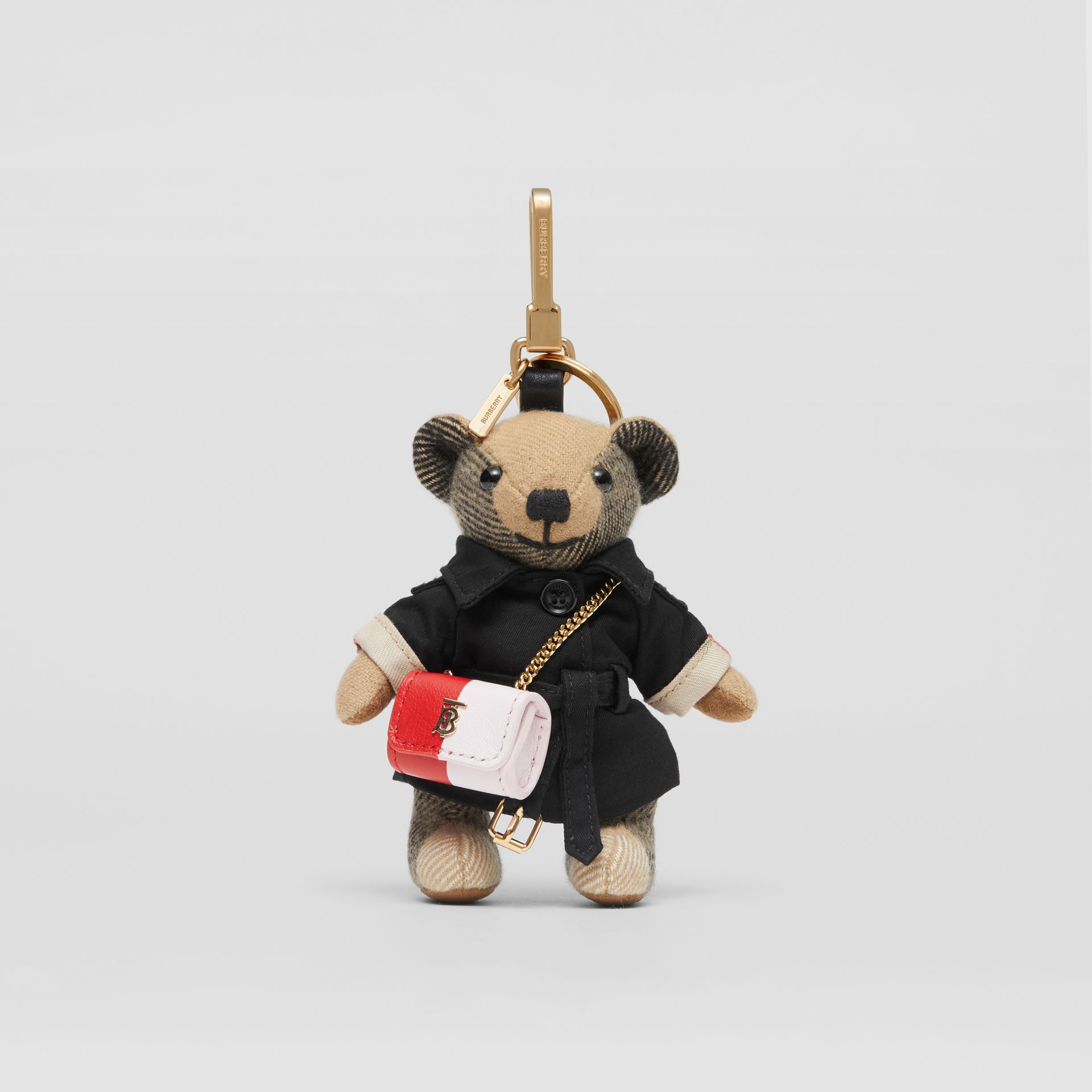 Thomas Bear Charm with Lola Bag in Archive Beige - Women | Burberry Australia - gallery image 2