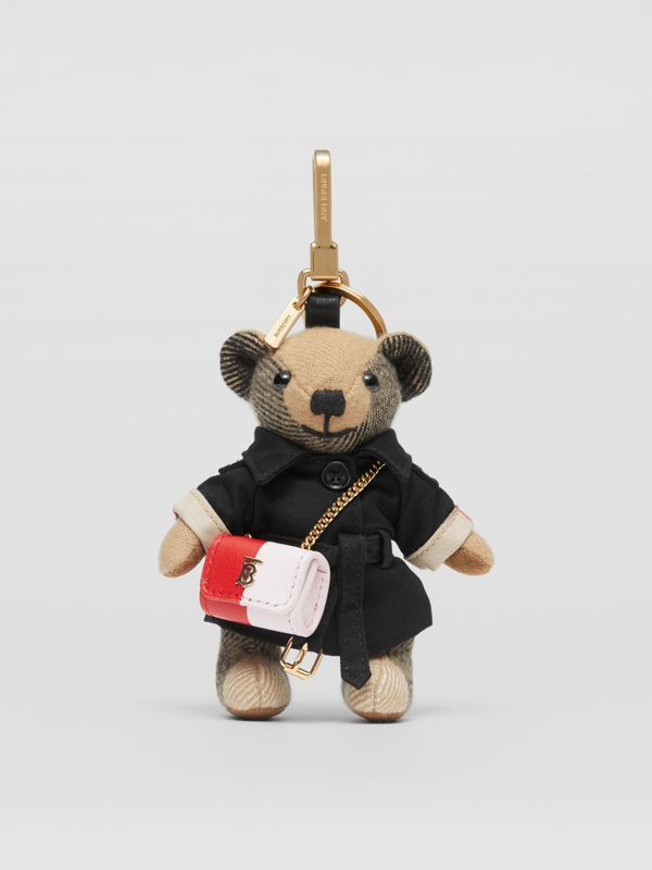 Thomas Bear Charm with Lola Bag in Archive Beige - Women | Burberry Australia - cell image 2