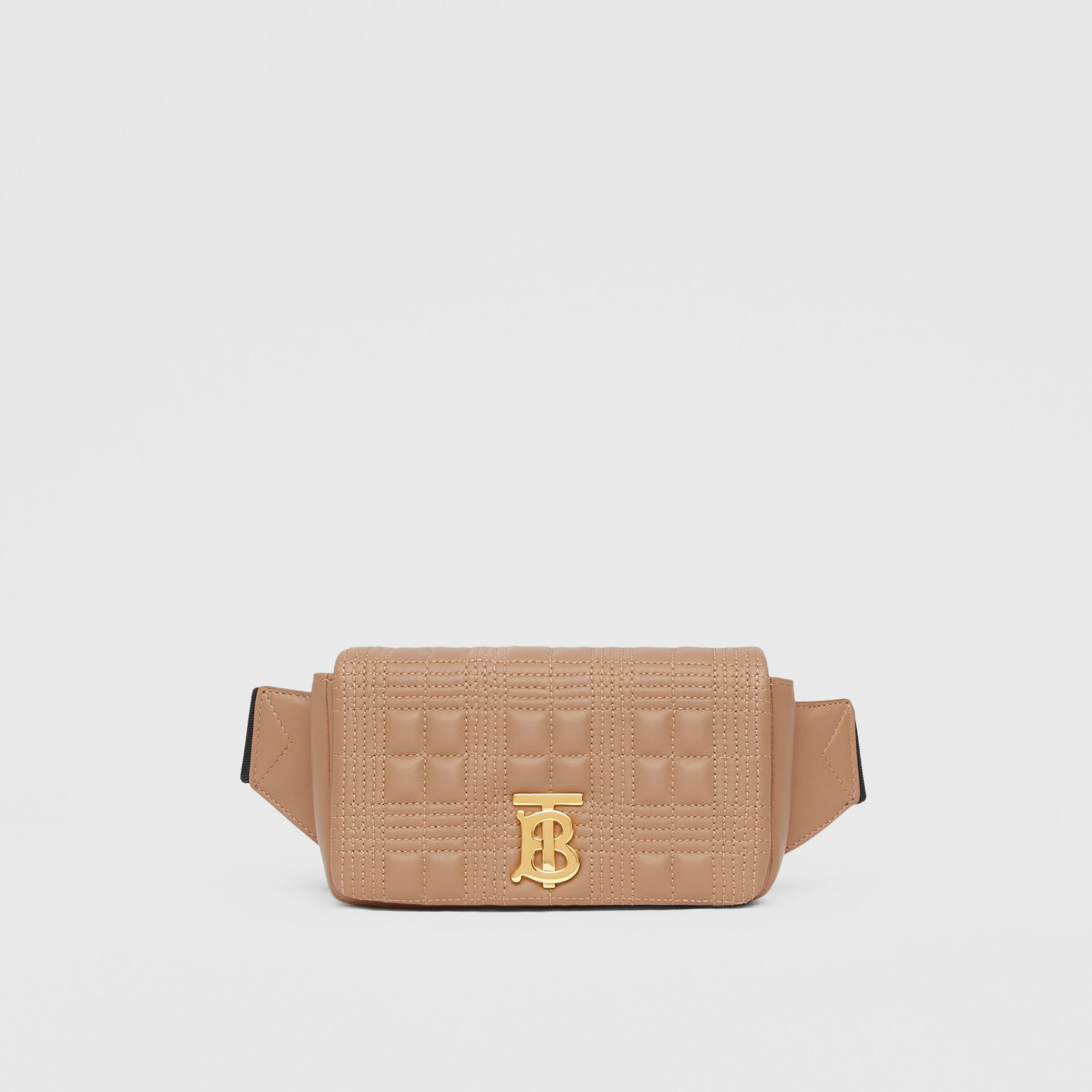 Quilted Lambskin Lola Bum Bag in Camel | Burberry - gallery image 0