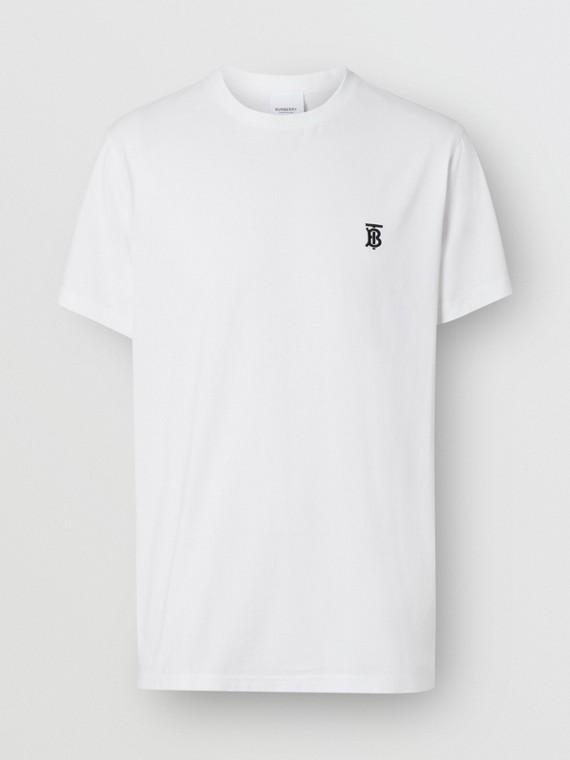 Monogram Motif Cotton T-shirt in White
