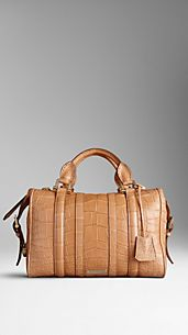Medium Alligator Leather Bowling Bag