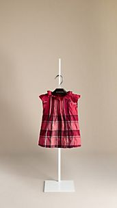 Check Ruffle Collar Dress