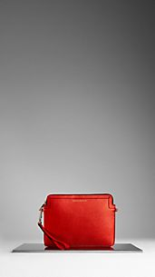 Metallic London Leather Crossbody iPad Case