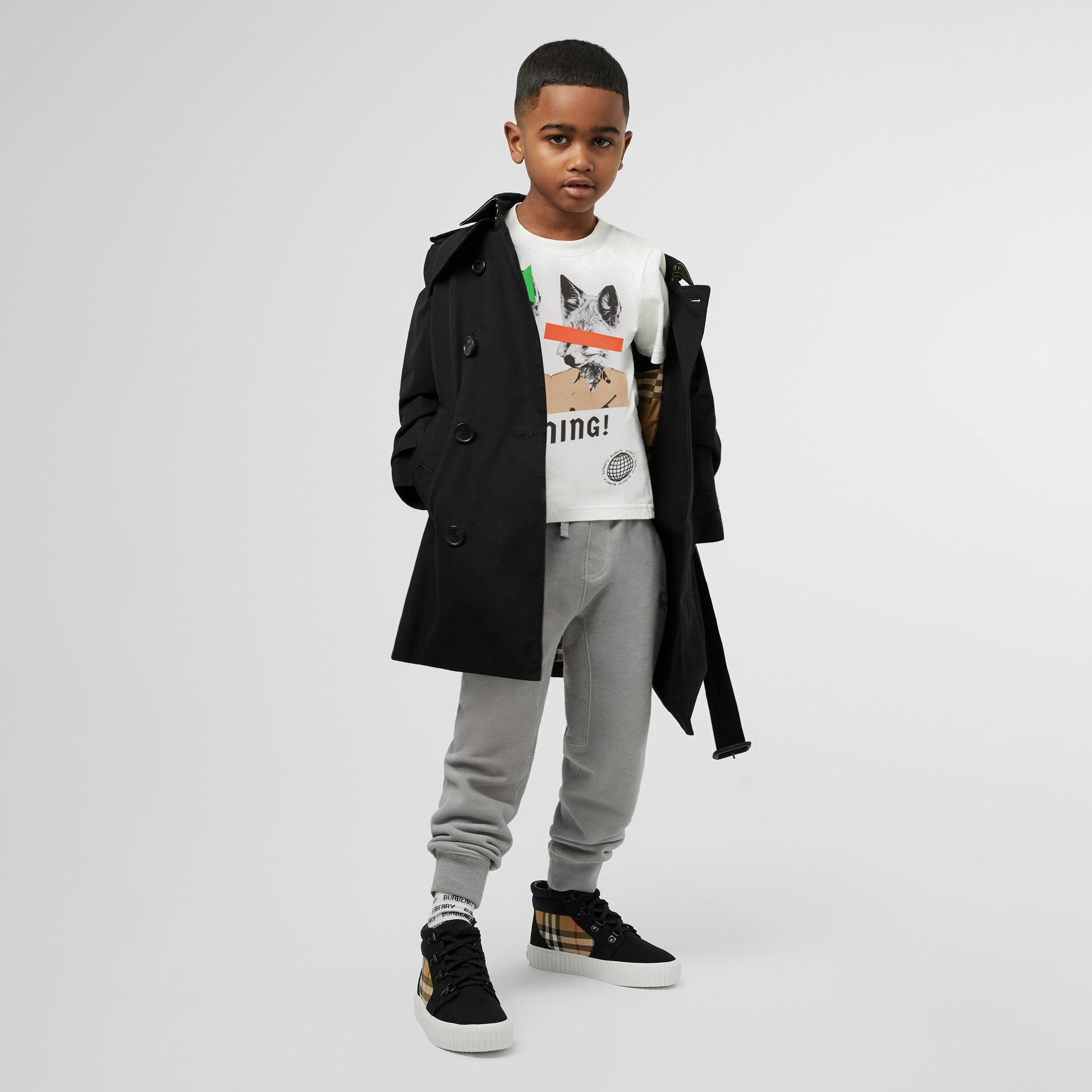 Trench coat en algodón de gabardina (Negro) | Burberry - imagen de la galería 3